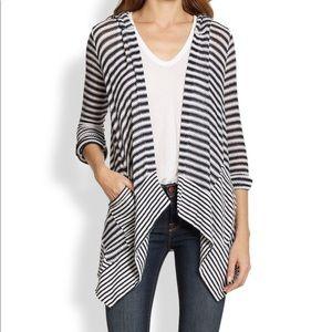 Splendid Striped Cardigan with Hood